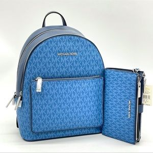 Michael Kors Adina MD Backpack & Double Zip Wallet